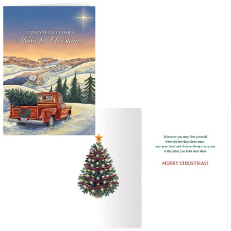 Hearts Come Home for Christmas Card Set of 20 ()