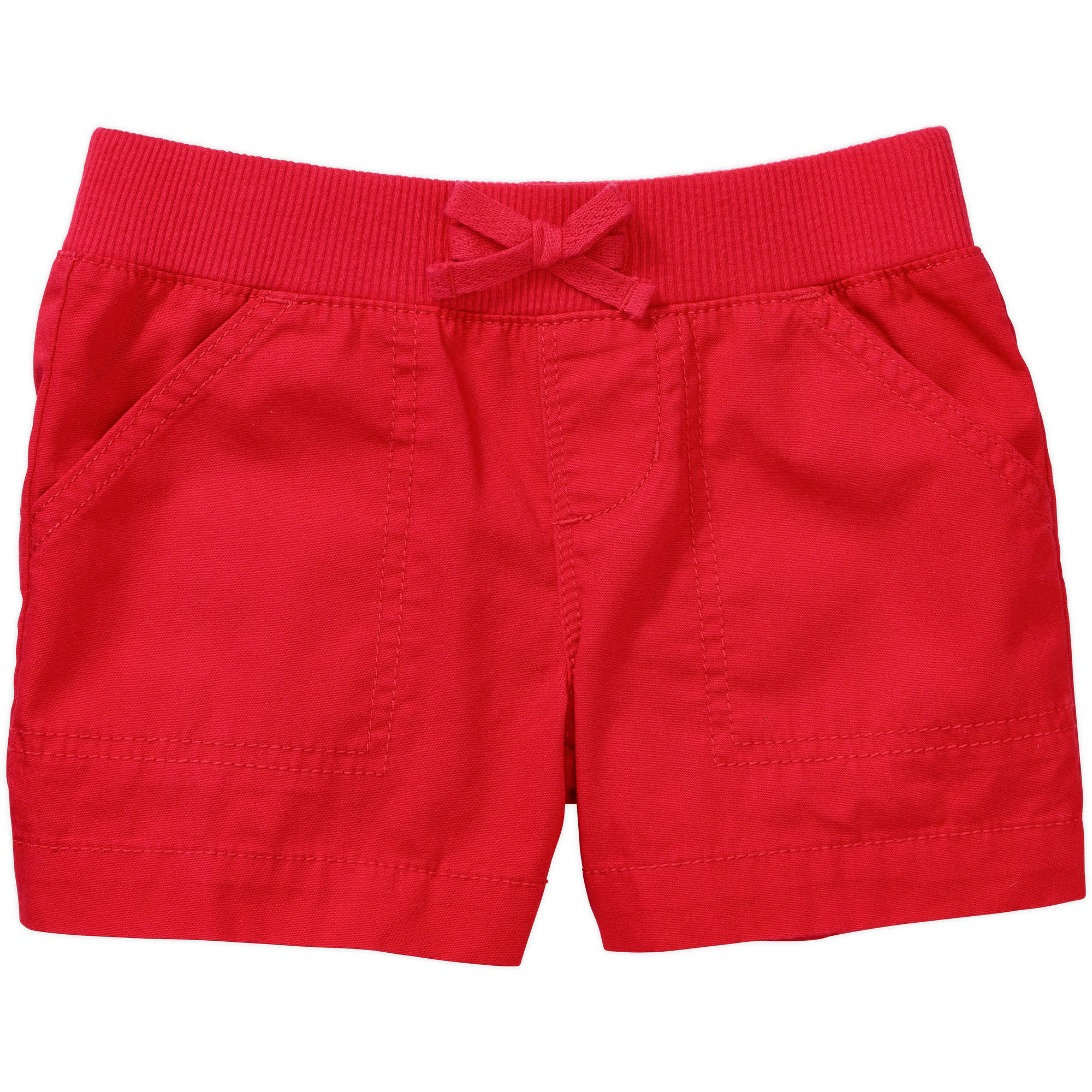 Faded Glory Girls' Solid Pull On Short