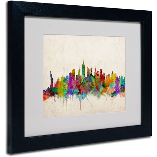 Trademark Art 'New York Skyline' Matted Framed Art by Michael Tompsett