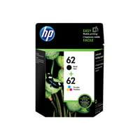 HP 62 Black & Tri-color Original Ink, 2 Cartridges (N9H64FN)