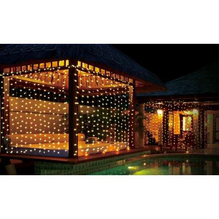 iMounTEK 300 LED Curtain String Light (Warm White) - Led White String Lights