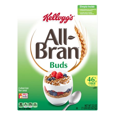 Bran Cereal (Kellogg's All Bran Buds Breakfast Cereal 22Oz Box)