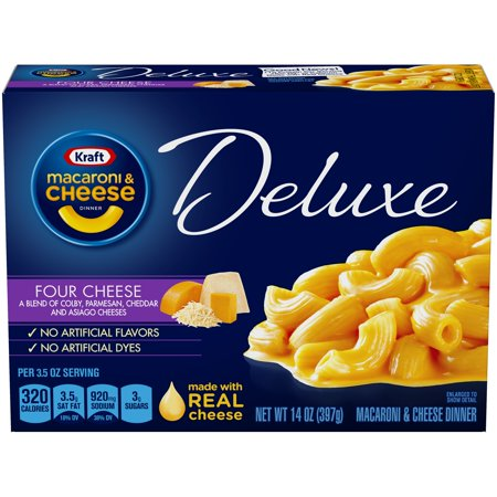 Kraft Deluxe Four Cheese Macaroni & Cheese Dinner 14 oz. Box for $<!---->