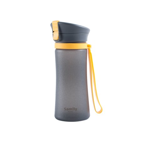 Sport Water Bottle by INNOKA 13 oz 380 ml Sports Bottle with Flip Top Lid Leak Proof Auto Open BPA Free FDA Pass Dual Lock Silicone Coated Glass Drinking Bottle For Travel Outdoor Running Yoga