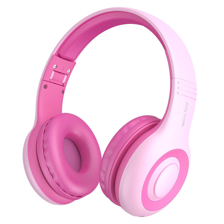 Kids Headphones, Vogek 2 in 1 Cat / Rabbit Wired On-Ear Headphones Headsets with 85dB Volume Limited, Children Headphones for Kids-Pink