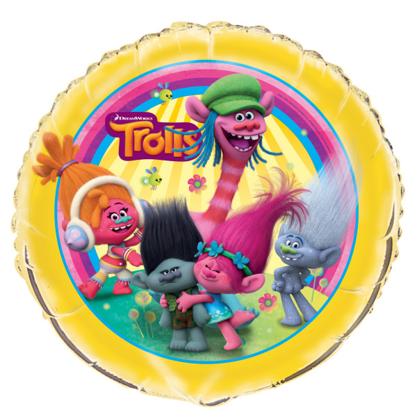 "Trolls Movie 18"" Round Foil Helium Metallic Balloon"
