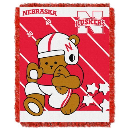 "Nebraska Cornhuskers The Northwest Company College Full Back 36"" x 46"" Woven Baby Blanket - No Size"