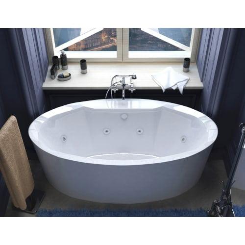 "Avano AV3468SDX Luxury Suite 67-3/16"" Acrylic Air / Whirlpool Bathtub for Freestanding Installations with Center Drain"