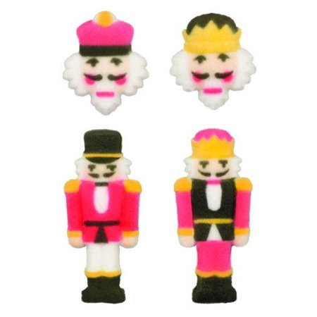 Nutcracker Christmas Winter Party Sugar Decorations Toppers Cupcake Cake Cookies Favors Party 12 Count - Winter Themes For Parties