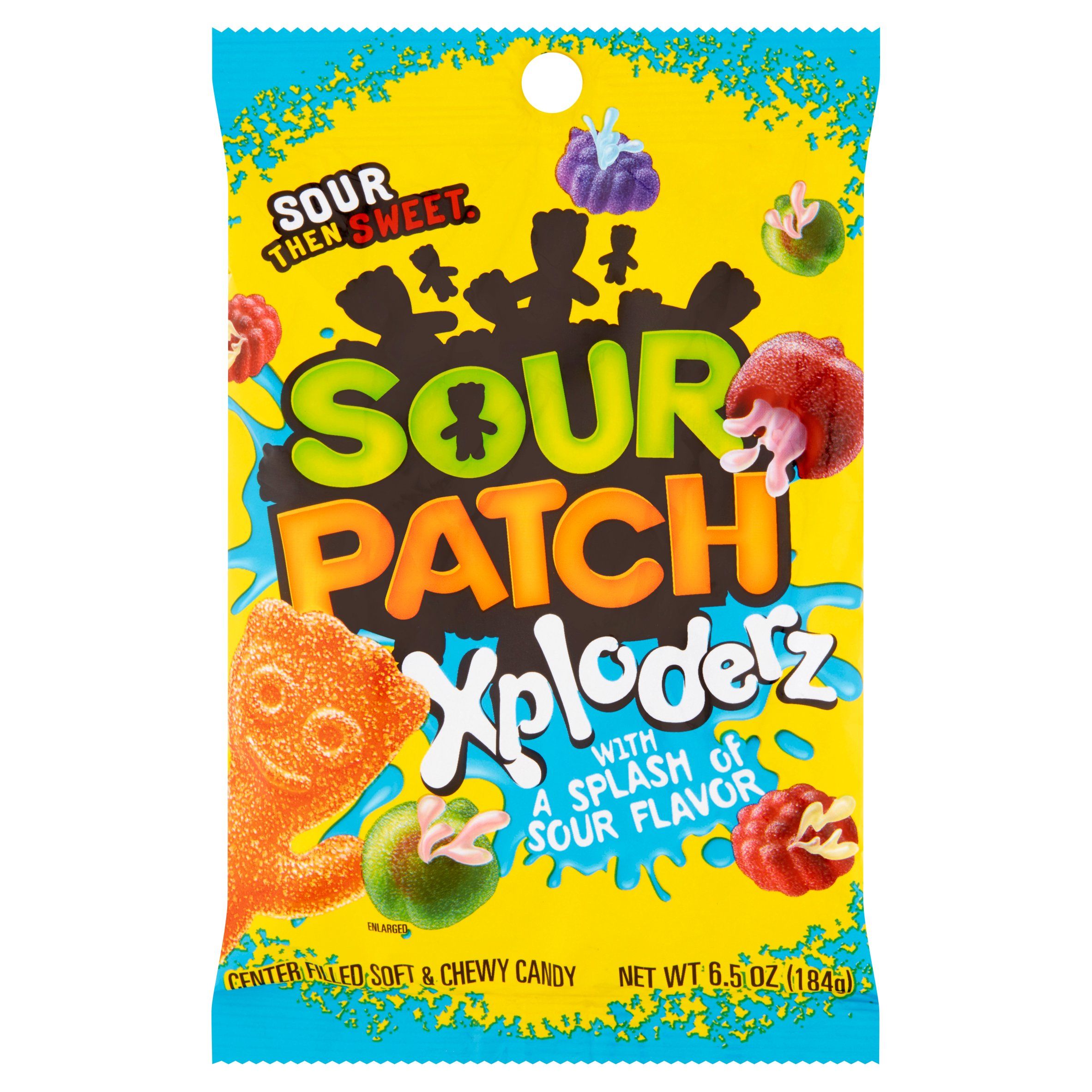 (3 Pack) Sour Patch, Soft & Chewy Xploderz Candy, 6.5 Oz