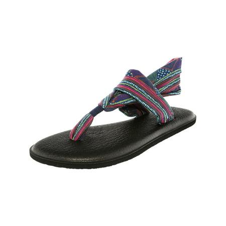 25e2634681f9 Sanuk - Sanuk Women s Yoga Sling 2 Prints Navy Multi Geo Stripes Sandal -  10M - Walmart.com