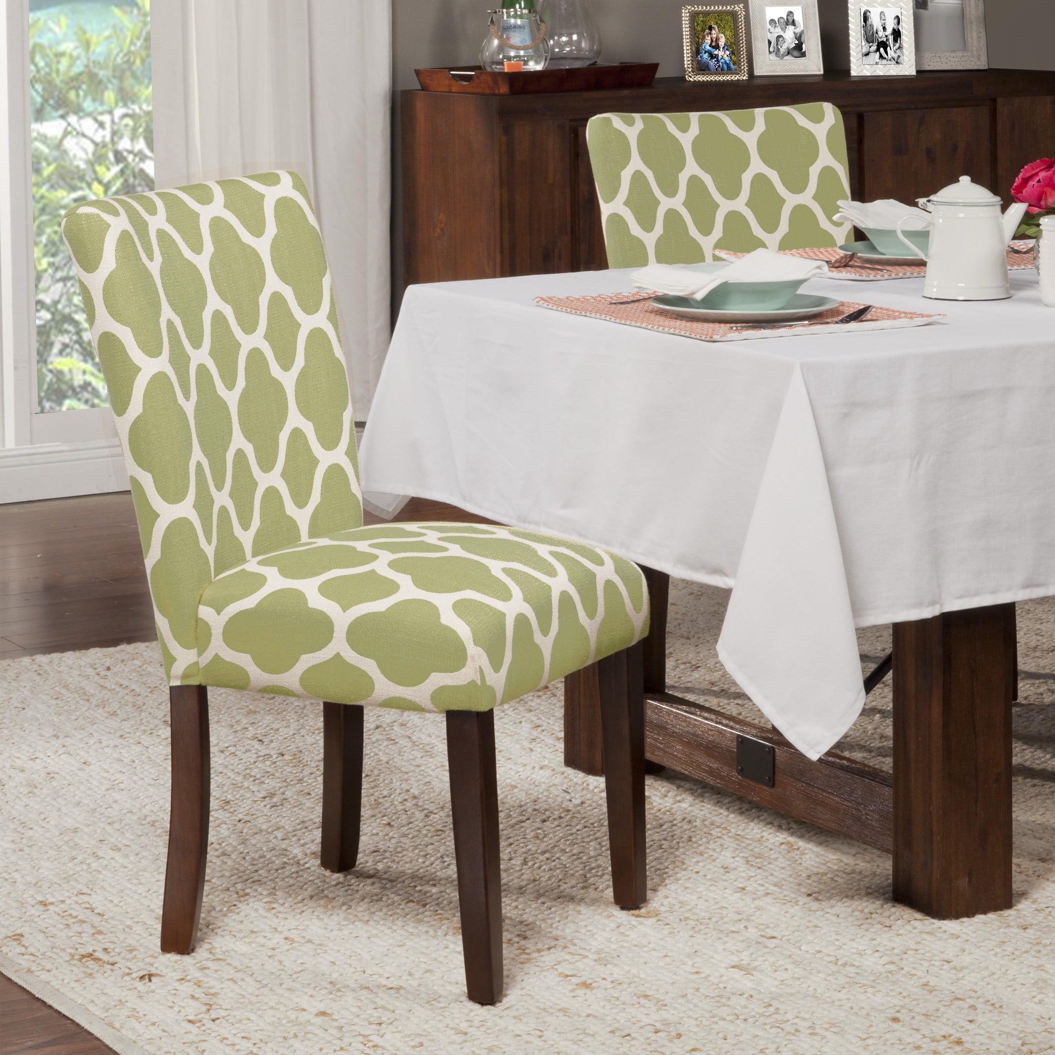 HomePop Parsons Dining Chairs (Set of 2), Quatrefoil