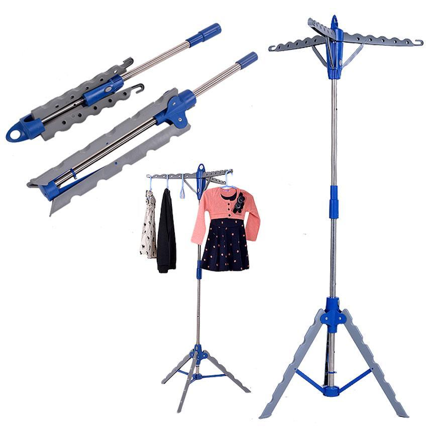 Garment Clothes Hanger Stand Folding Portable Drying Laundry Indoor Patio Display Tree Rack