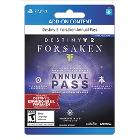 Destiny 2 Forsaken Season Pass, Activision, Playstation, [Digital Download]