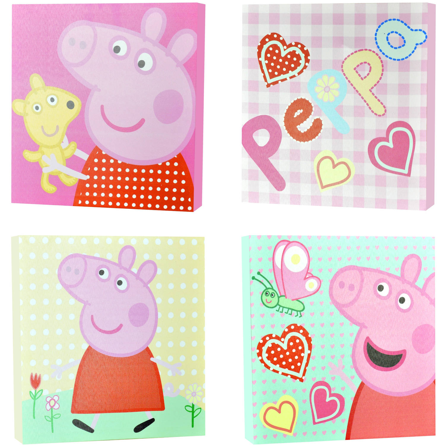 Peppa Pig 4-Piece Canvas Wall Art