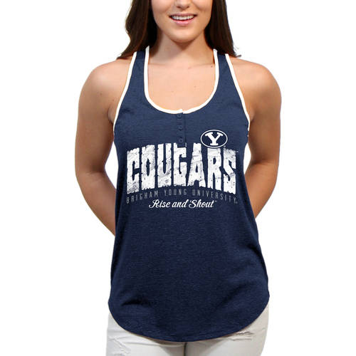 NCAA Brigham Young Cougars Choppy Arch Women'S / Juniors Team Tank Top