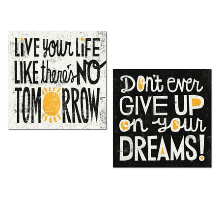 Popular black white and yellow inspirational live your life like theres no tomorrow