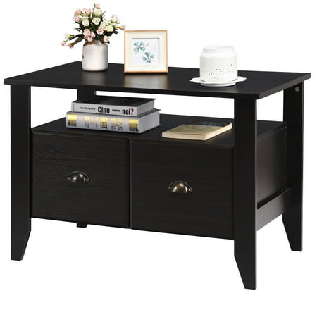 Costway Multi Function Lateral File Cabinet Coffee Table Tv Stand