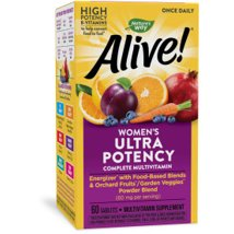 Multivitamins: Alive! Once Daily Women's Ultra Potency Multi-Vitamin