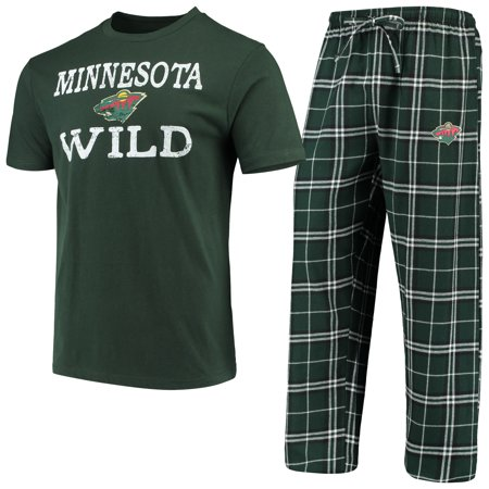 Minnesota Wild Concepts Sport Duo Sleep Pant and T-Shirt Set - Green Black  - Walmart.com cac632ab4