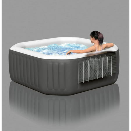 intex 120 bubble jets 4 person octagonal purespa best hot tubs. Black Bedroom Furniture Sets. Home Design Ideas