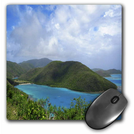 3dRose British Virgin Islands, Mouse Pad, 8 by 8 inches