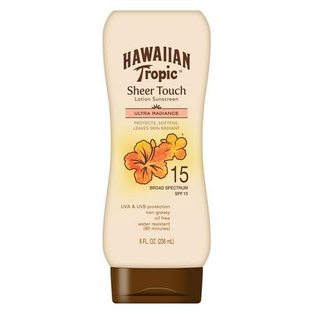 Hawaiian Tropic Sheer Touch Lotion Sunscreen SPF 15, 8 (Best Suntan Lotion For Face Uk)