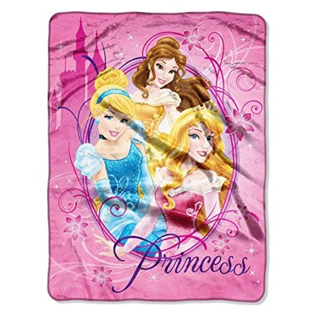 "Disney ""Princesses, Graceful"" Micro Raschel Throw, 46 by 60-Inch"