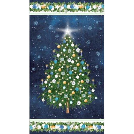 Clearance Sale~O Christmas Tree Panel 24'' x 44'' Panel Blue Cotton Fabric by Northcott](Halloween Panel Fabric)