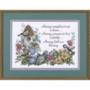 "Dimensions ""Flowery Verse"" Stamped Cross Stitch Kit, 14"" x 10"""