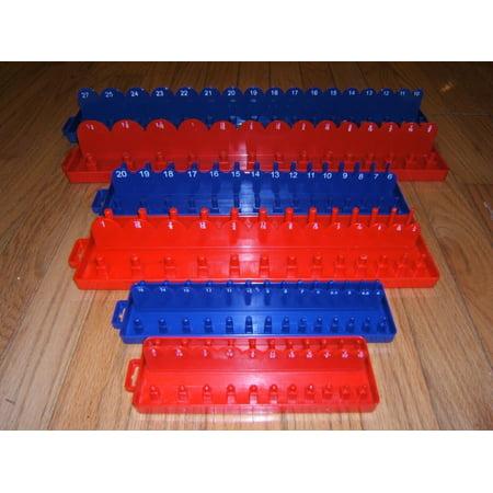 Tool Storage Organizers 6pc 1/4 3/8 1/2 Drive SAE & METRIC Sockets Trays Holders Organizer , Tool Storage Organizers 6pc 1/4 3/8 1/2 Drive SAE &.., By Hand Tools (Metric Socket Organizer)