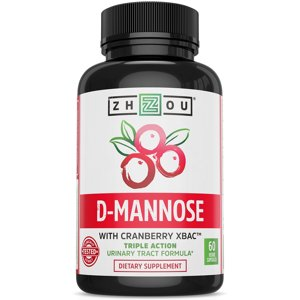 D Mannose with Cranberry Concentrate Urinary Tract Formula - Triple Action Complex with Clinically Tested Cranberry XBACTM Powder for Bacterial Antiadherance & Flushing Impurities - 60 Veggie Capsules