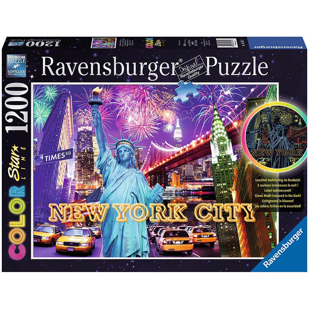 Colorful New York 1200 Piece Puzzle