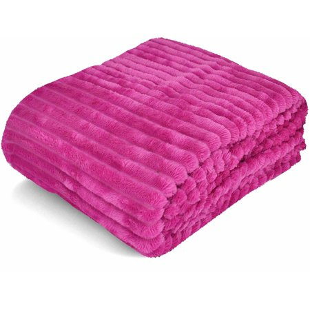 Formula Corduroy Ribbed Royal Plush Throw, 50\