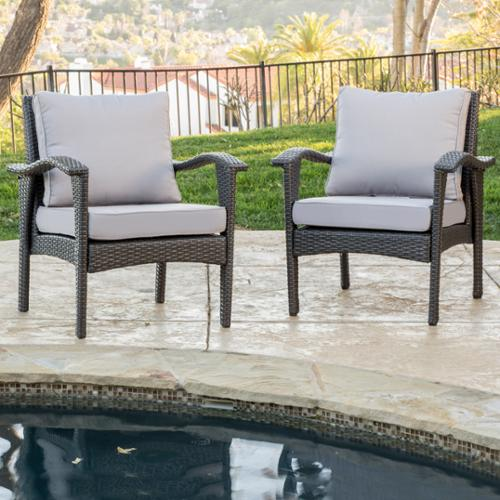 Athens Grey Club Chairs (2 Pack)