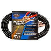 Coleman Cable 81208808 12' 10 Gauge Booster Cable With 200 Amp Clamps