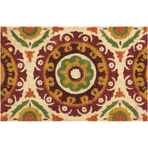 "Waverly Greetings ""Solar Flair"" Rust Doormat by Nourison"