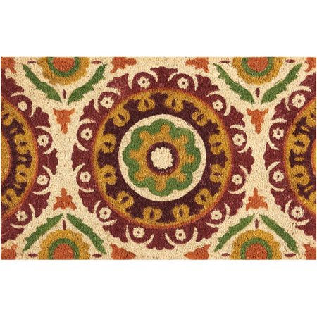 "Waverly Greetings ""Solar Flair"" Rust Doormat"