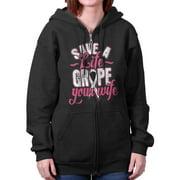 Breast Cancer Awareness Shirt | Save Life Grope Your Wife BCA Zipper Hoodie