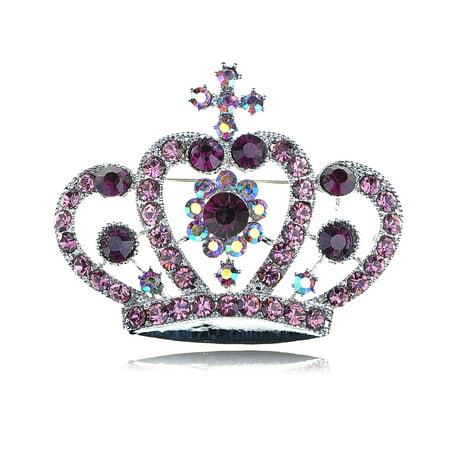 Princess Pie - Alilang Amethyst Purple Colored Crystal Rhinestone Royal Princess Queen Crown...
