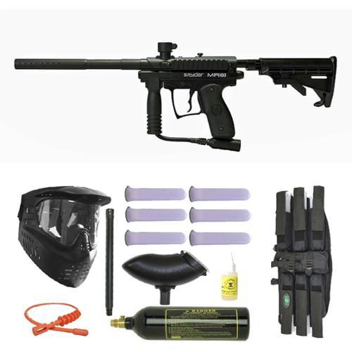 Spyder MR100 Pro Paintball Marker Gun 3Skull Super Mega Set by