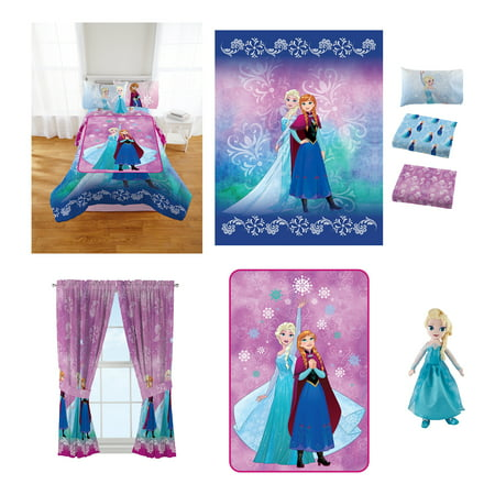 Star Rocket Twin Comforter - Disney's Frozen Nordic Frost Room in a Bag comes with Twin Comforter, Pillow Buddy, Sheet Set, Curtains and Blanket!