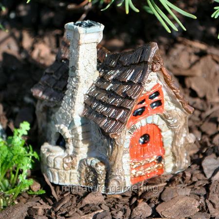 Cottage Outdoor Garden (Georgetown Home & Garden Micro Bakery Cottage with Stone Oven for Miniature Garden, Fairy Garden )