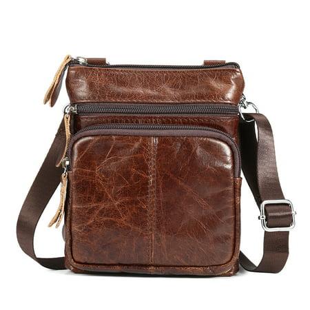 Men's Casual Vintage Business Leather Shoulder Bag Laptop Messenger Handbag Chest