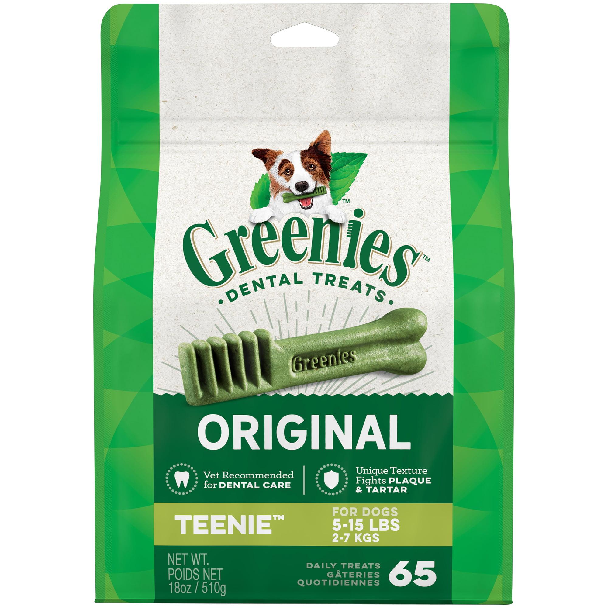 GREENIES Original TEENIE Dental Dog Treats, 18 oz. Pack (65 Treats) by Mars Petcare