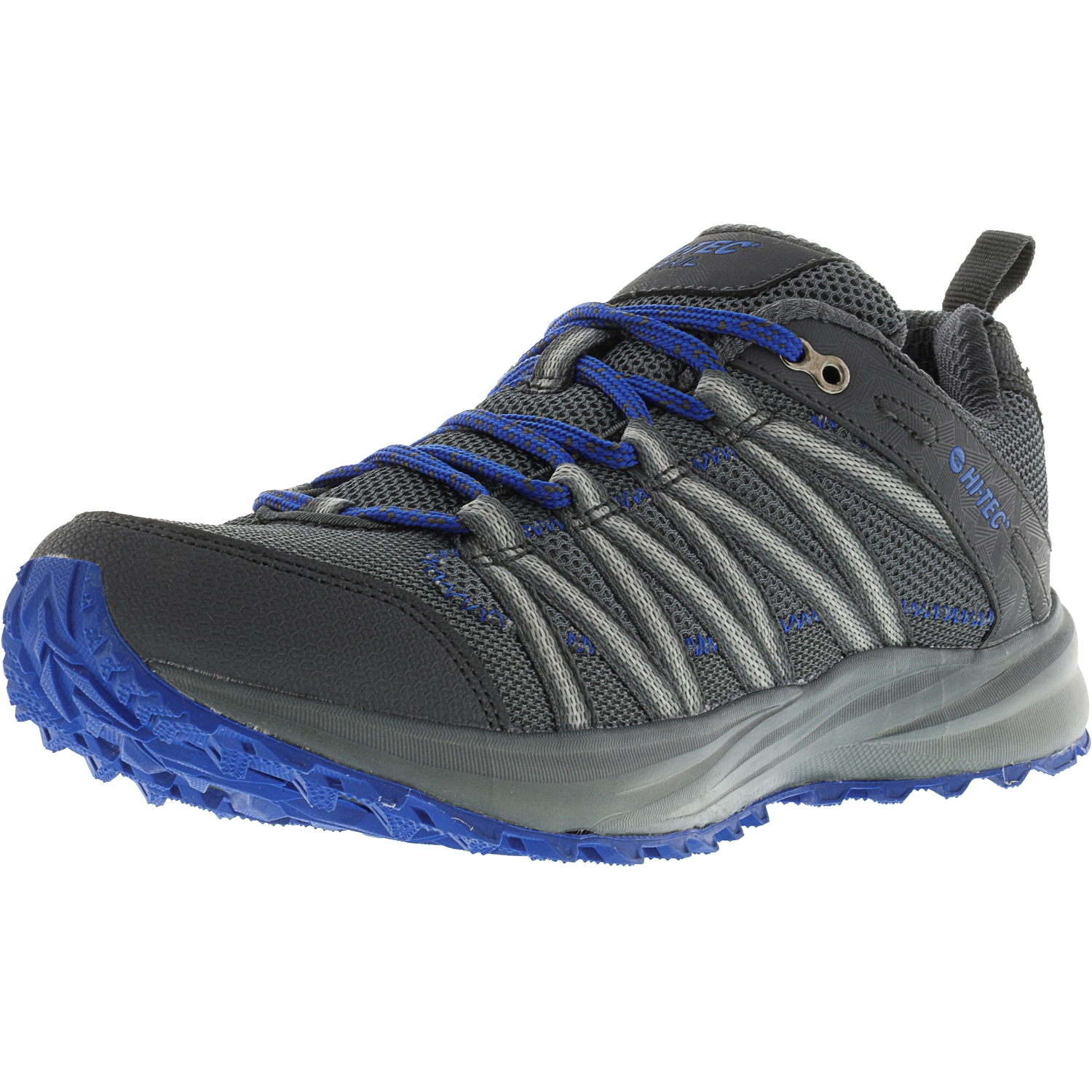 Hi-Tec Men's Sensor Trail Lite Graphite   Cobalt Ankle-High Runner 8M by Hi-Tec