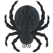"""Club Pack of 12 Hanging Black Spider Halloween Decorations 18"""""""