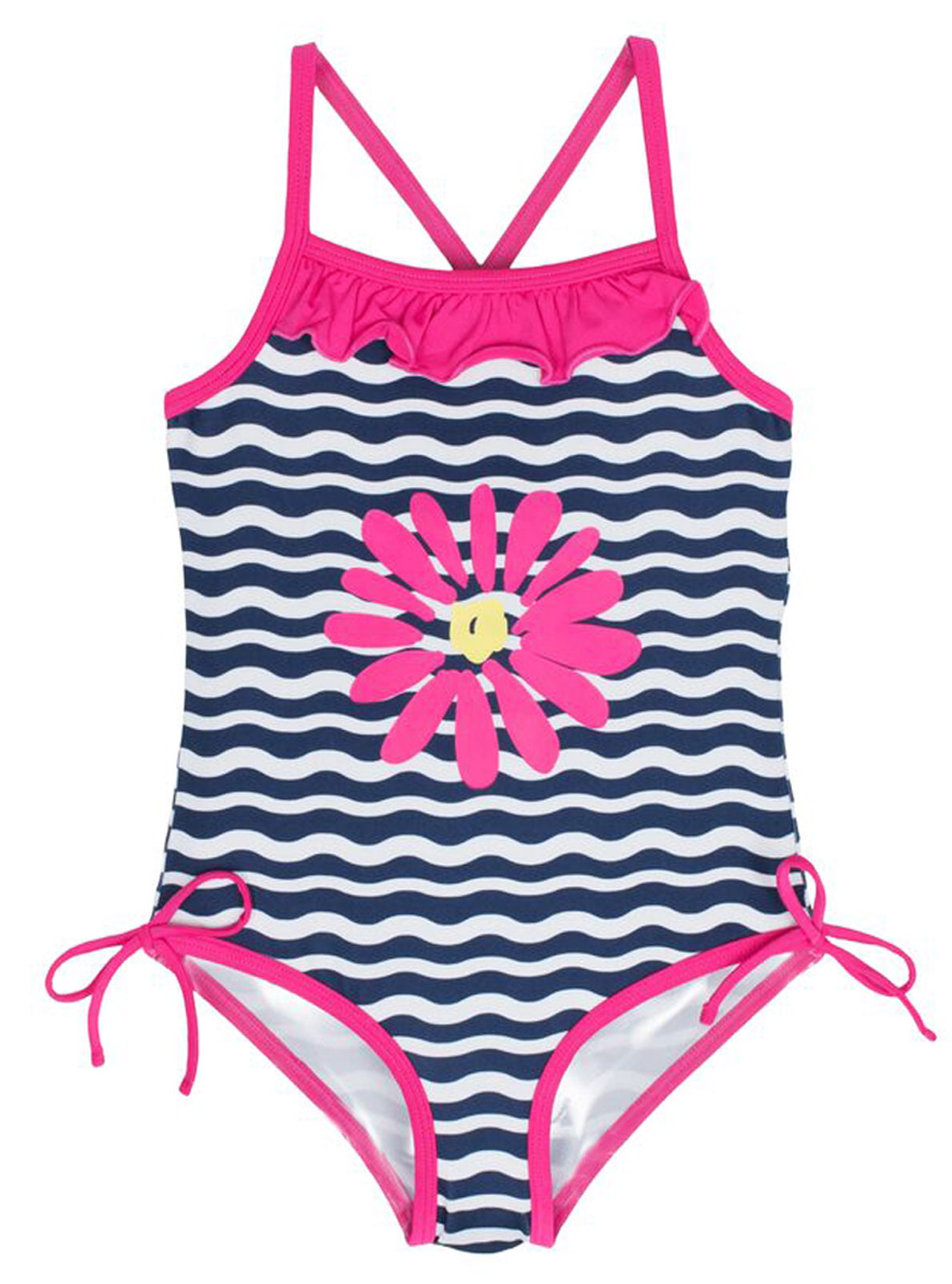 Freestyle Girls Sailor Heart One Piece Swimsuit