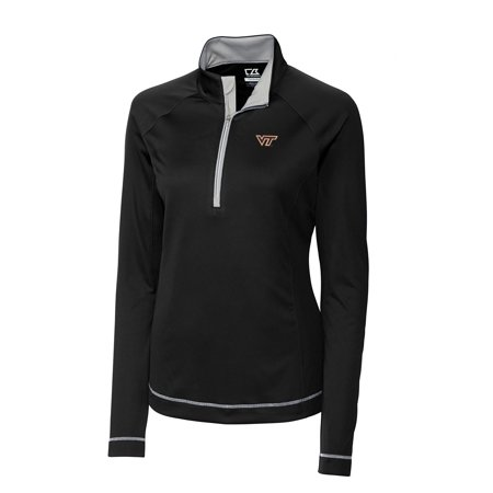 Virginia Tech Hokies Cutter & Buck Women's Evolve Half-Zip Jacket - Black