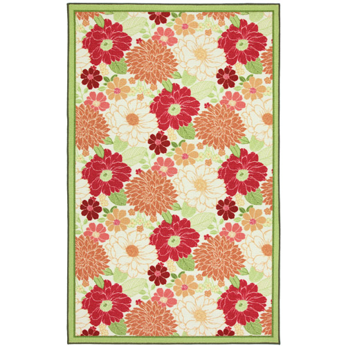 Better Homes and Gardens Sorbet Floral Indoor/Outdoor Rug, Multiple Sizes